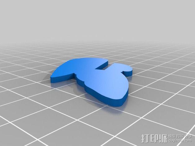 五彩小鸟 3D模型  图9