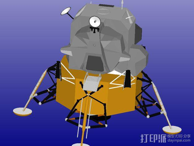 月球着陆器 3D模型  图2