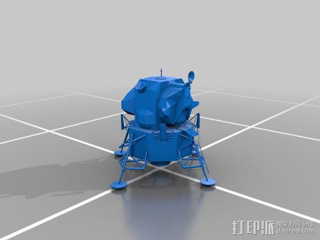月球着陆器 3D模型  图3