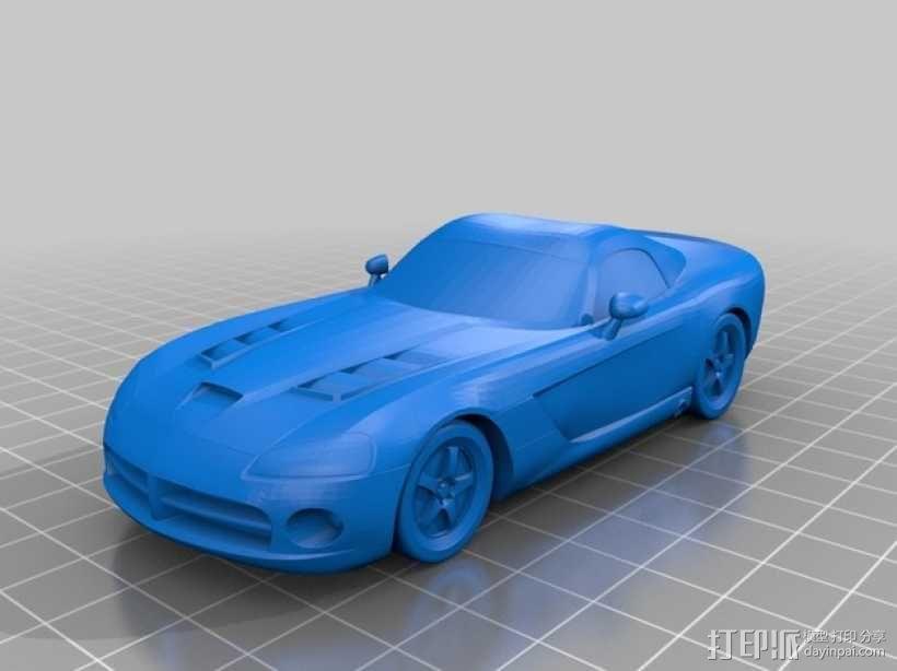 Dodge Viper跑车 3D模型  图4