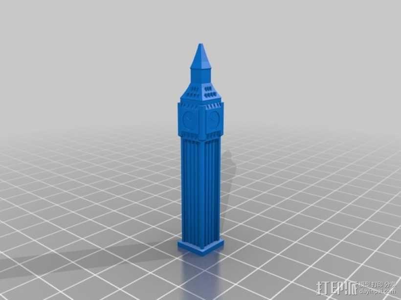 大本钟 3D模型  图2
