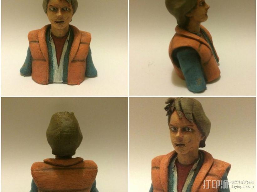 Marty McFly 半身雕塑 3D模型  图2