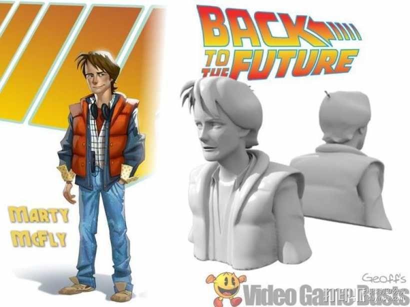 Marty McFly 半身雕塑 3D模型  图1