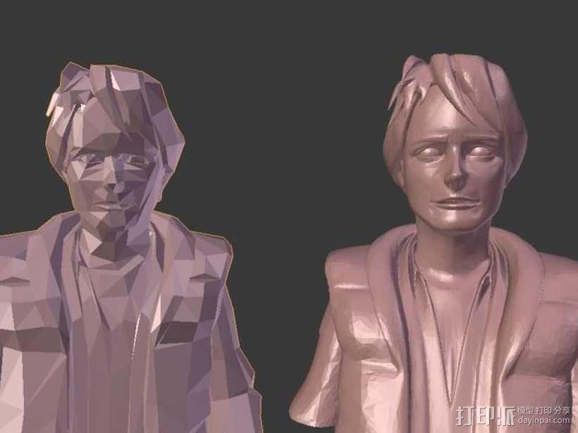 Marty McFly 半身雕塑 3D模型  图3