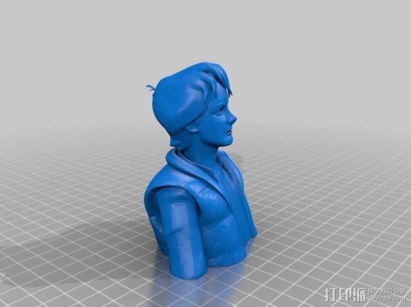 Marty McFly 半身雕塑 3D模型  图4