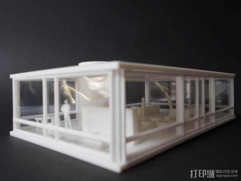 玻璃房 3D模型  图1