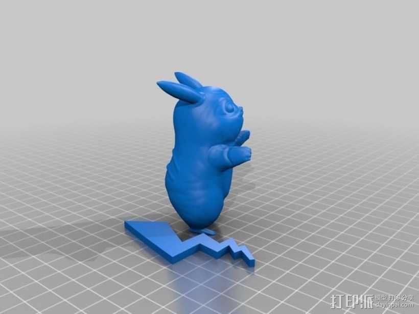 求拥抱的皮卡丘 3D模型  图2