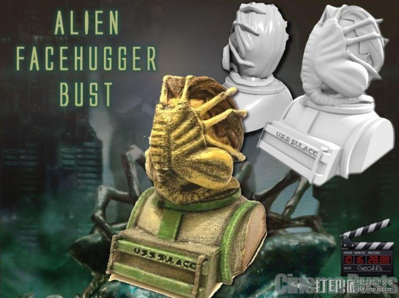外星生物抱脸虫  3D模型  图1