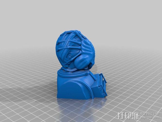外星生物抱脸虫  3D模型  图2