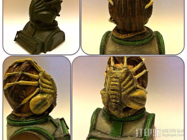 外星生物抱脸虫  3D模型  图3