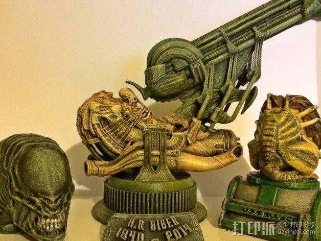 外星生物抱脸虫  3D模型  图4