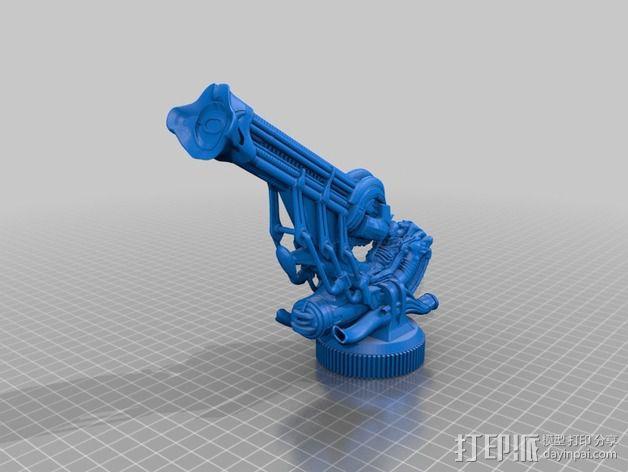 Alien Jockey外星人雕像 3D模型  图3