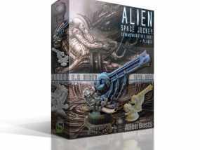 Alien Jockey外星人雕像 3D模型