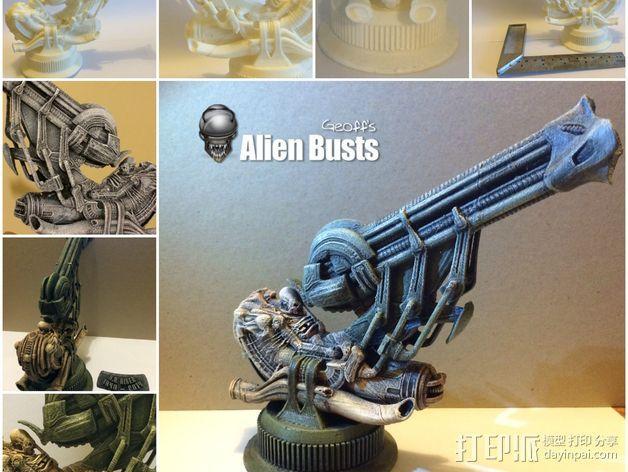 Alien Jockey外星人雕像 3D模型  图2