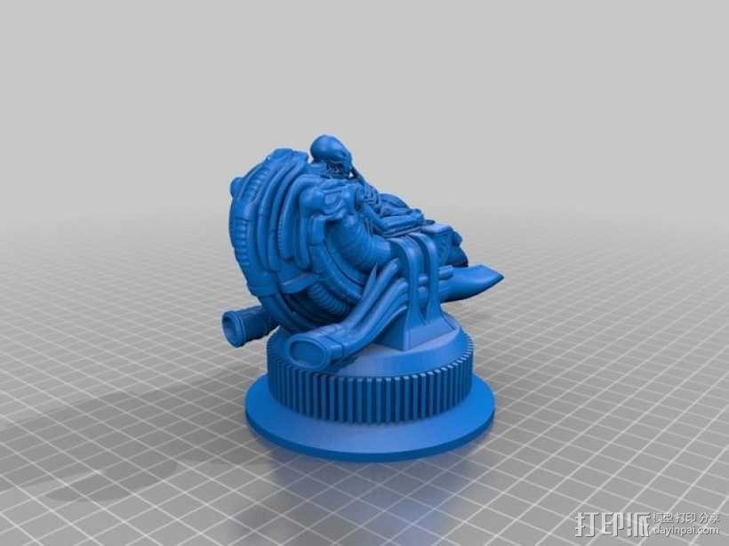 Alien Jockey外星人雕像 3D模型  图6