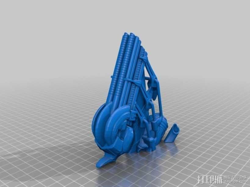 Alien Jockey外星人雕像 3D模型  图8