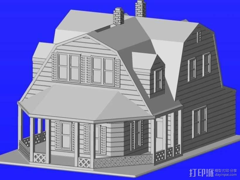 海边别墅 存钱罐 3D模型  图1