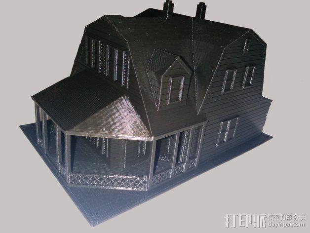 海边别墅 存钱罐 3D模型  图2