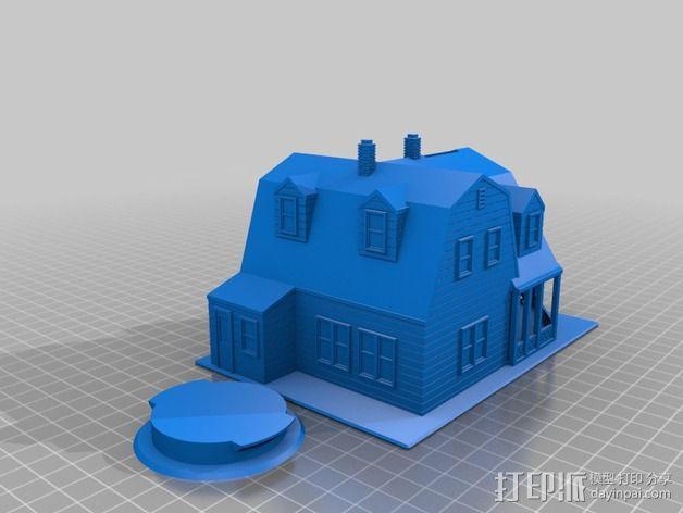 海边别墅 存钱罐 3D模型  图5
