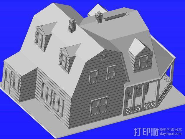 海边别墅 存钱罐 3D模型  图3
