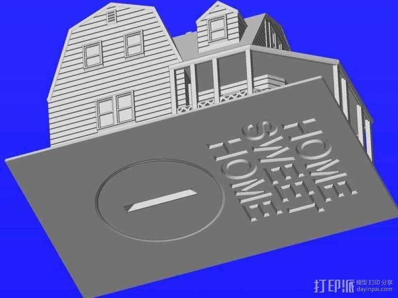 海边别墅 存钱罐 3D模型  图7