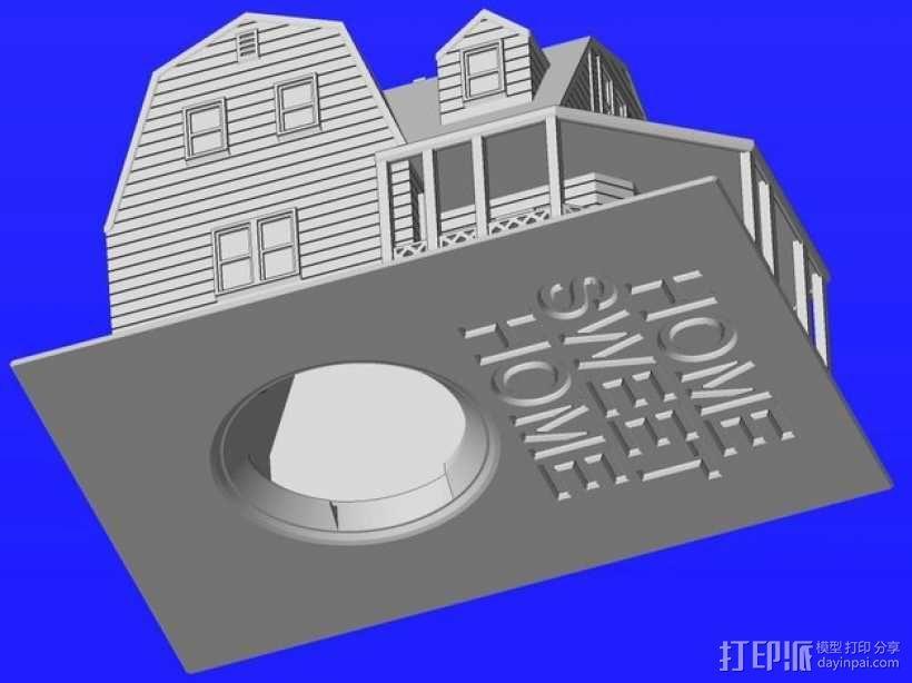 海边别墅 存钱罐 3D模型  图8