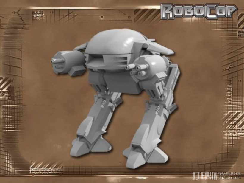 ED-209机器人 3D模型  图1