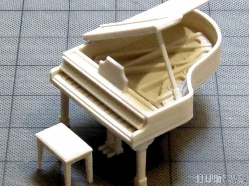 钢琴 凳子 3D模型  图1