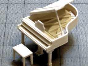 钢琴 凳子 3D模型