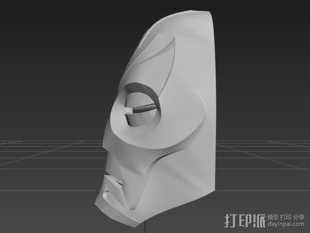 上古卷轴龙祭司面具 3D模型  图2