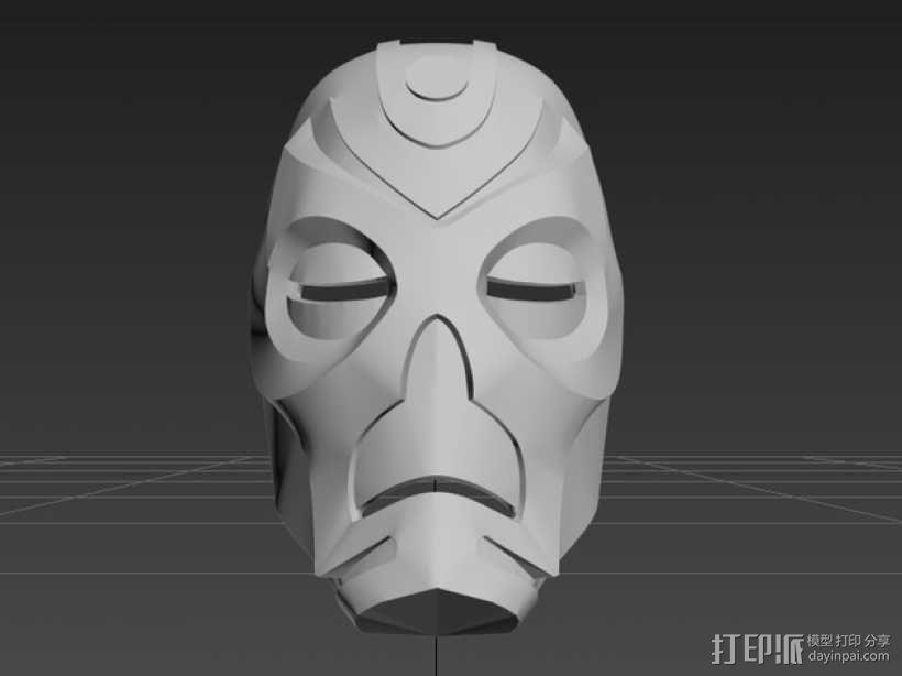 上古卷轴龙祭司面具 3D模型  图1