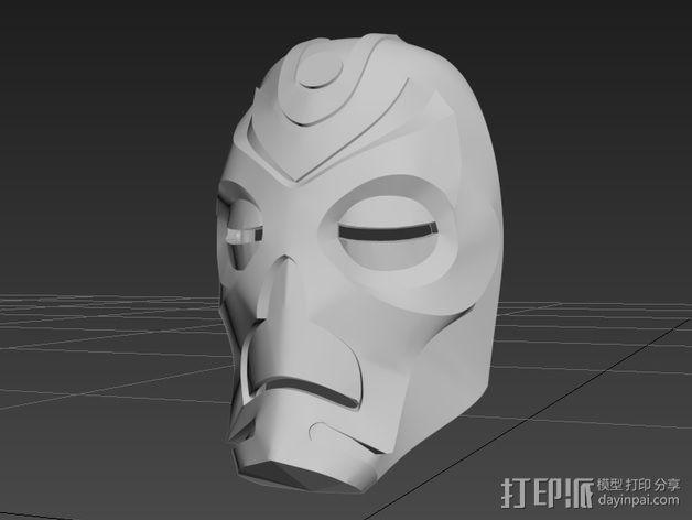上古卷轴龙祭司面具 3D模型  图4