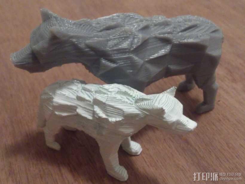 低面数冰原狼 3D模型  图1