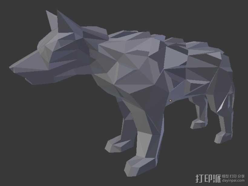 低面数冰原狼 3D模型  图5