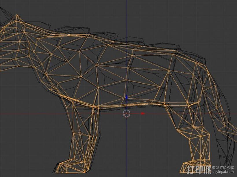低面数冰原狼 3D模型  图6