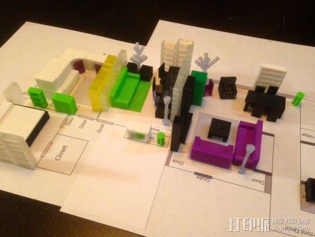迷你家具模型 3D模型  图2