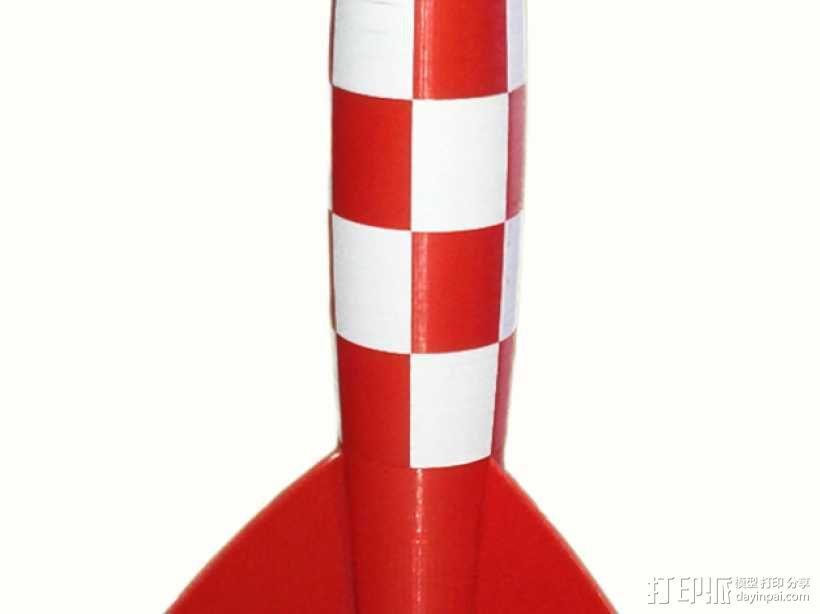 Tintin火箭 3D模型  图1