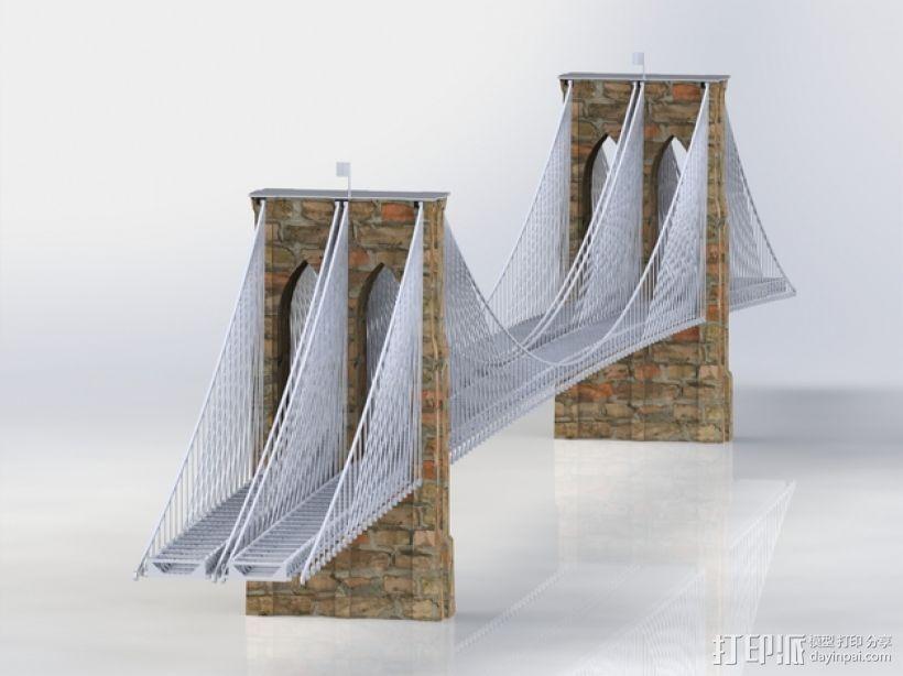 布鲁克林大桥 3D模型  图1