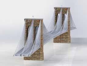 布鲁克林大桥 3D模型