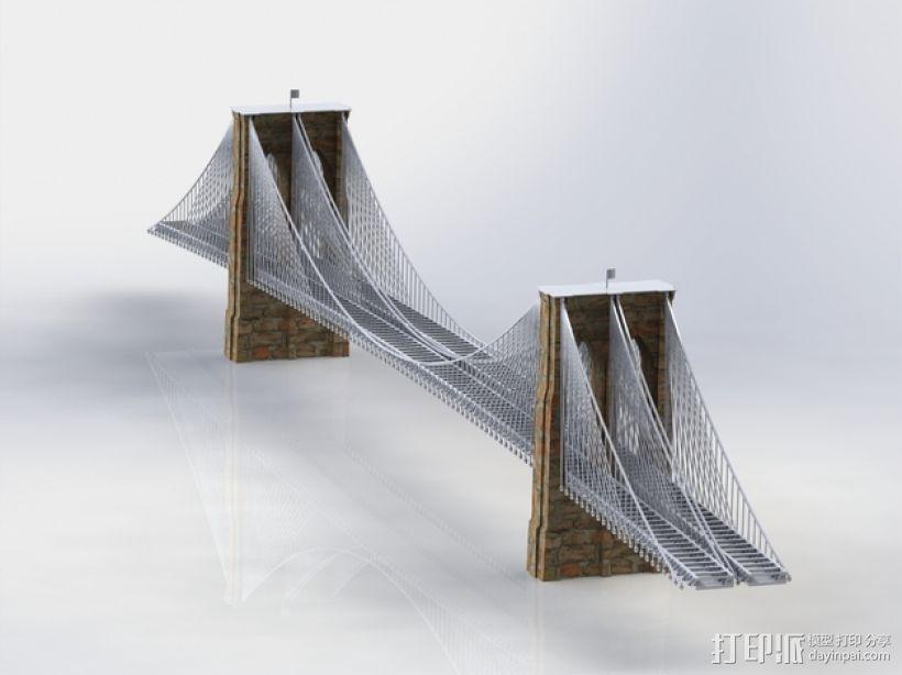 布鲁克林大桥 3D模型  图13