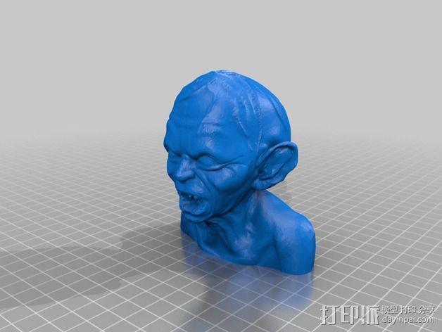 Gollum咕噜半身像 3D模型  图1