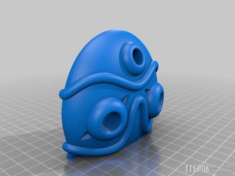 幽灵公主面具 3D模型  图3