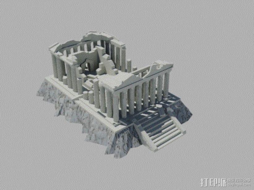 爱奥尼亚废墟 3D模型  图1