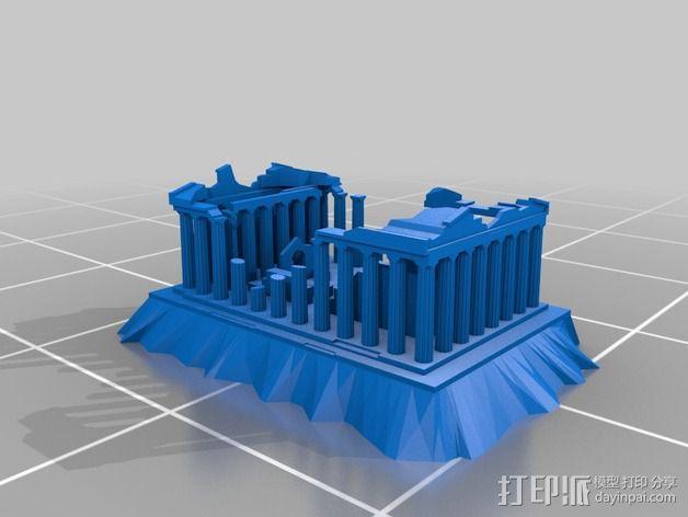 爱奥尼亚废墟 3D模型  图2