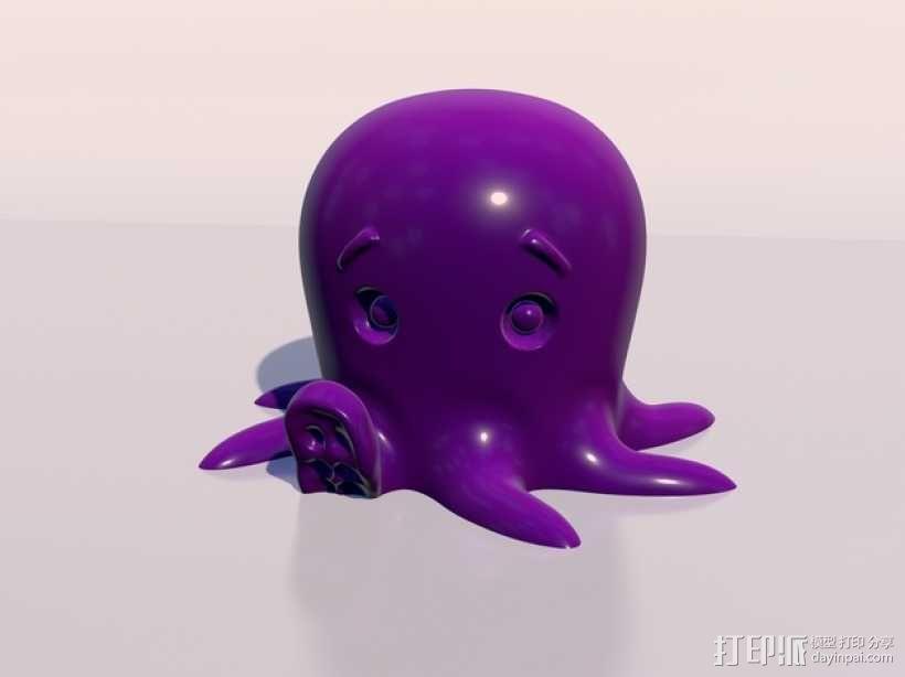 章鱼 3D模型  图1