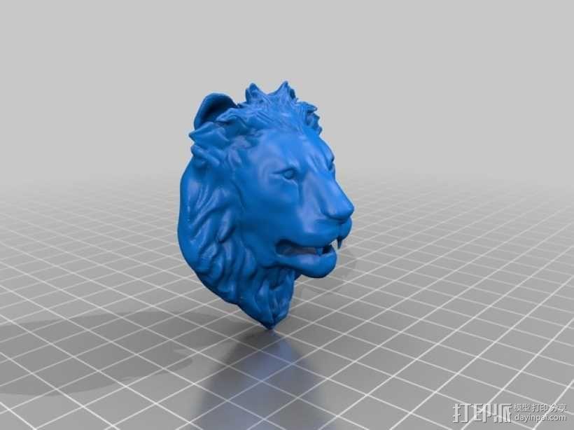 狮子头墙饰 3D模型  图2