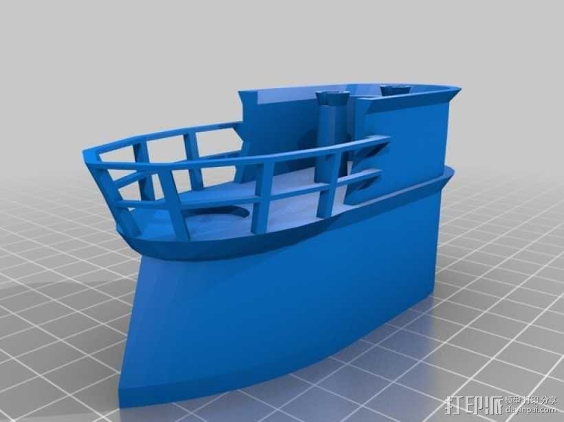 Bathtub U-Boat赛艇 3D模型  图2