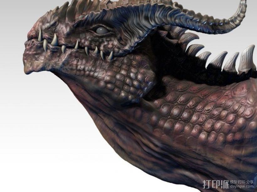 龙头雕塑 3D模型  图1