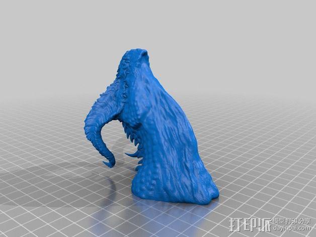 龙头雕塑 3D模型  图2