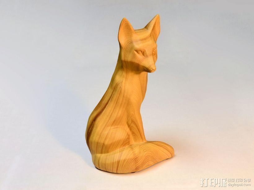 木质狐狸 3D模型  图1